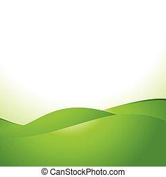 vector green wave