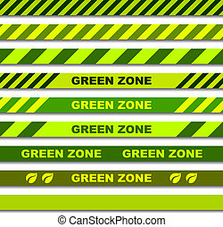 vector green zone seamless caution tapes