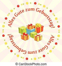 vector greeting card - Alles gute zum Geburtstag - happy...