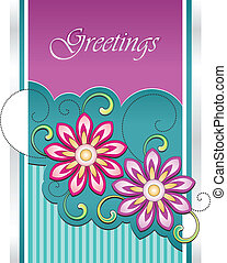 Vector greeting card concept