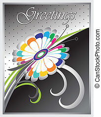 Vector greeting card design
