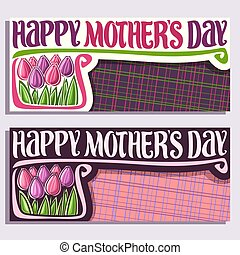 Vector greeting card for Mothers Day