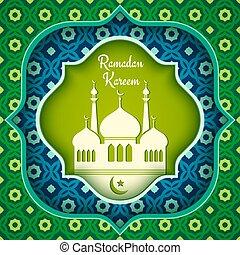 Vector greeting card for Ramadan