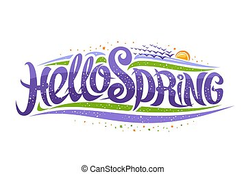 Vector greeting card for Spring