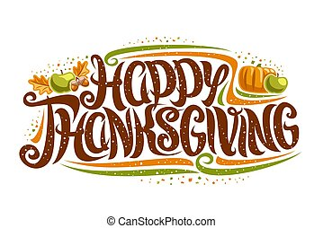 Vector greeting card for Thanksgiving Day