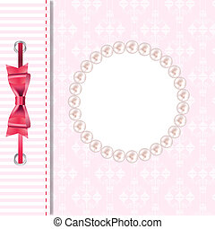 Vector greeting card or cover with bow. Space for your text or picture.