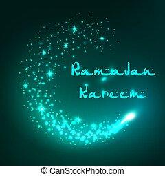 Vector greeting card Ramadan Kareem islam holiday