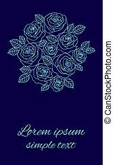 Floral design for wedding invitations