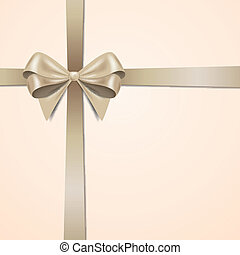 Vector Greeting Card with Bow