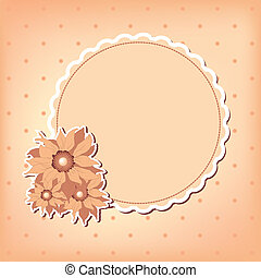 Vector greeting card with flower