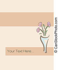 Vector greeting card with flowers