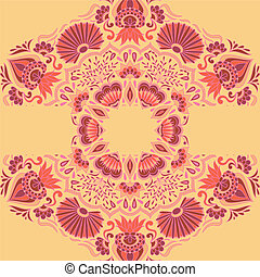 Vector greeting card with ornament.