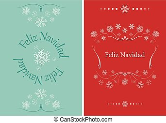 vector greeting cards for christmas - feliz navidad