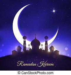 Vector greeting for Ramadan Kareem Muslim holiday