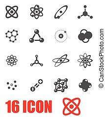Vector grey atom icon set