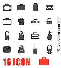 Vector grey bag icon set