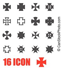 Vector grey choppers crosses icon set