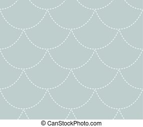 Vector Grey Decorative Seamless Pattern