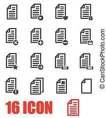Vector grey documents  icon set
