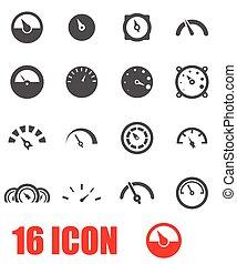 Vector grey meter icon set