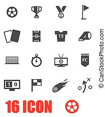 Vector grey soccer icon set