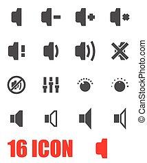 Vector grey speaker icon set