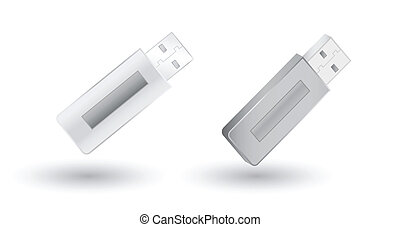 Vector Grey USB Flash Drives