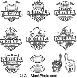 Vector Greyscale Football logo Collection