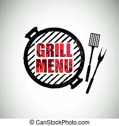 Vector Grill Menu Design Template