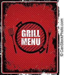 Vector Grill Menu Sign