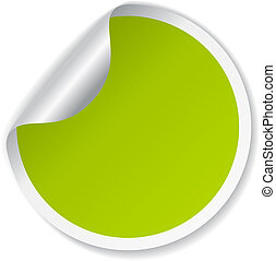 vector, groene, sticker
