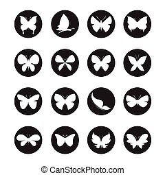 Vector group of butterflies in the circle
