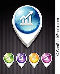 growth bar - vector growth bar 3d style icon