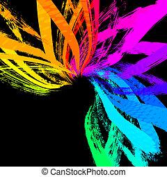 vector, grunge, achtergrond, abstract