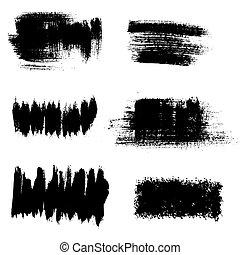 Vector grunge background elements. Textured brushstrokes.