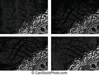 Vector Grunge Background Set