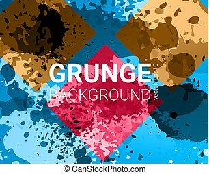 Vector grunge banner. Color concept geometric design