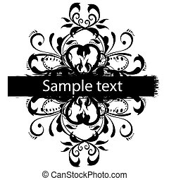 Vector grunge border for text
