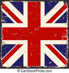 Vector grunge British flag