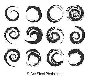 Vector grunge circle shapes