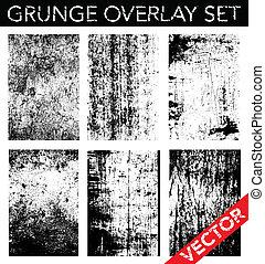 vector, grunge, cubrir, conjunto