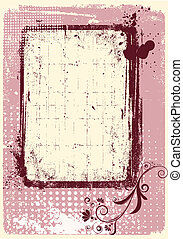 Vector grunge decoration .Pink background for text