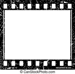 Vector grunge filmstrip icon