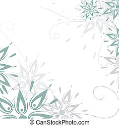 Vector grunge floral background