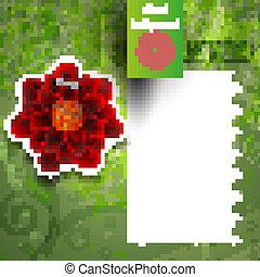 Vector grunge floral background. Eps 10