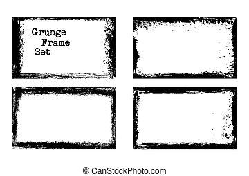 Vector grunge frame templates