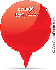 Vector Grunge glossy red shape banner background