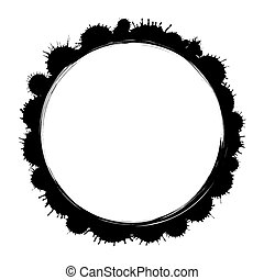 Vector grunge ink  paint frame isolated