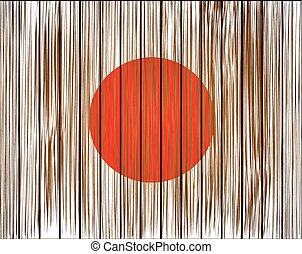 Vector grunge japan flag. Eps10