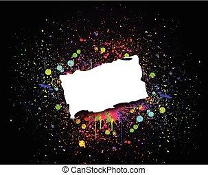 vector, grunge, kleurrijke, illustratie, banner.